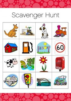 car trip bingo, scavenger hunt, logo game  need paper and images, can use this with tokens with a earn-lose method. condition generalized, after filling up two bingo strips get back up reinforcer