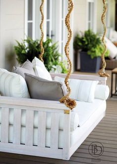 front porch swing - use white rope