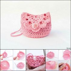 Crochet Cute Purse with FREE Pattern and Tutorial - fashion purses, women's purses and bags, patent leather handbags *ad