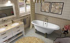 REGATA volně stojící vana 175x85x61cm, nohy bronz, bílá : SAPHO E-shop Bath Screens, Clawfoot Bathtub, Corner Bathtub, Bronze, Bathtubs, Bathroom, Dark, Tank Tops, Washroom
