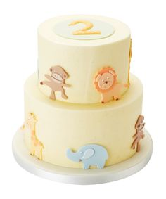 Tiered Safari Animal Cake