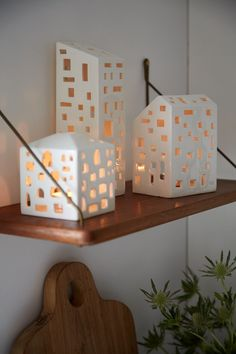 The Urbania Tea Light collection from Danish design icon, Kahler, comprises tea light holders handmade into the shapes of various urban buildings (in this case, the House). The candleholders are purch
