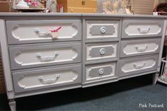 Dresser in Paris Grey and Pure White by Pink Postcard!