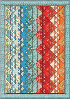 Quilt Pattern Calico Lights 53 x 76 by QuiltPatternsDesigns