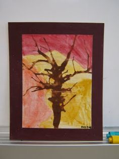Fall Trees Art idea