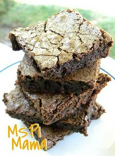Dairy/soy free brownies. Better than a box!