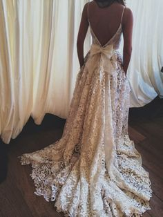 Lace And Bow Wedding Gown