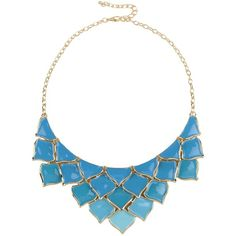 George J. Love Necklace ($28) ❤ liked on Polyvore featuring jewelry, necklaces, collane and azure