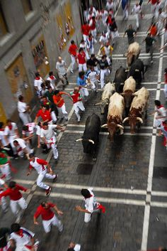 Festival of San Fermin –Bull run- Pamplona, Spain Monuments, San Fermin Pamplona, Spanish Festivals, Running Of The Bulls, My Father's World, Going To University, Flamenco Dancers, Gypsy Life, Cheap Hotels