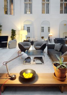 This space is almost outside in! Studioilse at Nobis hotel, Stockholm. Vintage, modern, luxury or eclectic hotels. Wich are you favourites? See some decor tips for your own interior projects, here: http://www.pinterest.com/homedsgnideas/