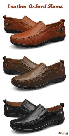 5c2e9507a6d US Size 6.5-11 Men Genuine Leather Slip On Casual Business Shoes