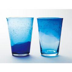 : 透明な夏の夜の涼をたのしむ 琉球ガラスの星空ソーダグラスセット | Sumally