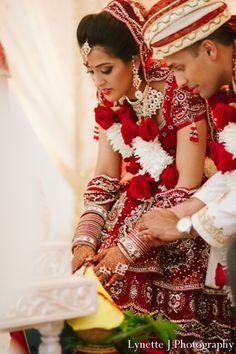 indian-wedding-ceremony-groom-bride-detail http://maharaniweddings.com/gallery/photo/3370