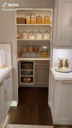 Small Kitchen Pantry, Pantry Room, Kitchen Pantry Design, Kitchen Organization Pantry, Small Space Kitchen, Modern Kitchen Design, Kitchen Interior, Kitchen Storage, Kitchen Ideas