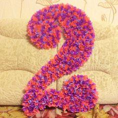 DIY, Doğum Günü Süsleri Yapımı 12 My Favorite Things, Birthday, Crafts, Baby, Flower Decoration, Paper Flowers, Girl 1st Birthdays, Paper Board, Birthdays