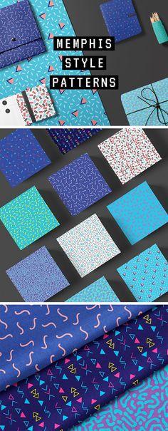 10 Memphis Style Patterns