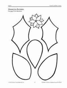 9 Best Images of Poinsettia Flower Template Printable - Paper Poinsettia Petal Template, Flower Shape Cut Out Template and Template for Felt Poinsettia Flower Felt Flowers, Fabric Flowers, Paper Flowers, Christmas Images, Felt Christmas, Christmas Ornaments, Christmas Poinsettia, Leaf Template, Flower Template