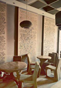 Оригинальный дизайн интерьера творческого кафе L'Atelier, Румыния