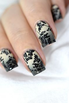 Autumn foliage nail art- kinetics dangerous game - creative shop stamping 98 - gradient - fall nails