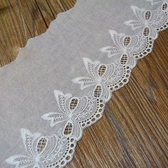 4-1/4 Inch Wide Cotton Embroidered Eyelet Lace Fabric Trimming Pack of 14 Yards