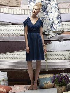 Bridesmaid in navy... top matches style of Becca's dress @Rebecca Porter @Andrea Porter