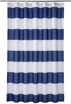 Home Classics Porter Navy Stripe Shower Curtain