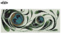 Cuff/Bracelet PDF Pattern peyote/brick stitch