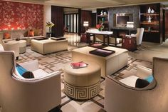 The living room of The Ritz-Carlton Suite at The Portman Ritz-Carlton, Shanghai.