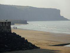 """Photo de la plage de """"Otaha beach"""" en Normandie ou il y a eu le debarquement de la seconde guerre mondial. Photo prise le 9 Mars 2014 de A.T"""