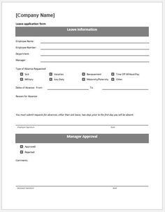 free leave application form template nz  9 Best Leaves Application Form images | Application form ...