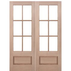 Prestige Entries 7231 2 6 Lite 1 Panel Mahogany Tdl Double Entry Door With
