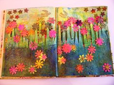 Another piccie from Angie Hughes's website.  I love this, from an altered book.