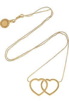Stella McCartney double heart necklace