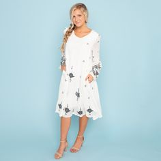 Southampton Embroidery Dress - White - B&R Called To Surf, Embroidery Dress, Southampton, Dress Me Up, Swing Dress, Style Guides, White Dress, My Style, Casual