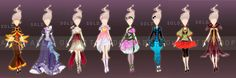Flower fashion collection - Auction (Closed) by fantazyme.deviantart.com on @DeviantArt