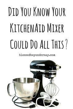 Don't underestimate what your KitchenAid Mixer can do! Kitchen Aid Mixer Attachments, Kitchen Mixer, Kitchenaid Attachments, Kitchen Machine, Kitchen Appliances, Kitchen Aid Recipes, Kitchen Hacks, Kitchen Tools, Kitchen Gadgets