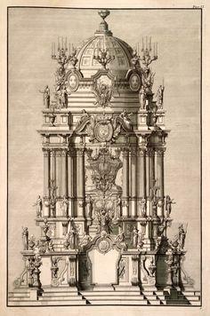 BIbiena's design for a grand catafalque