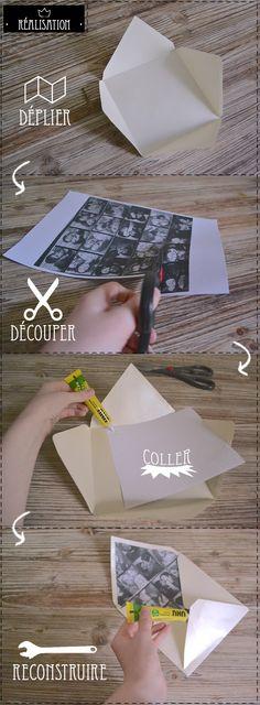 Cute DIY idea for envelopes // Enveloppe personnalisée