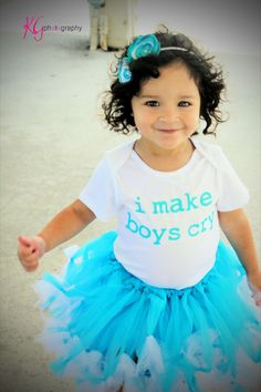 I Make Boys Cry Funny Baby Onesie or Toddler by ShopTheIttyBitty, $16.00