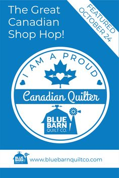 I am excited to be a part of #greatcanadianshophop from @canadianmqc and we are proud to be amongst the stores being highlighed this month for Canadians to have acces to great fabric. We will be highlighted on Oct 24 on INSTAGRAM, mark you calendars !You will not want to miss this! Plus we have some amazing Canadian Quilting Accessory Companies also joining in on the fun! There will be prizes, giveaways and deals galore!