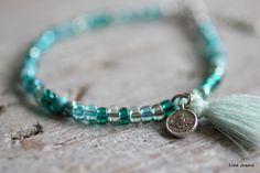 Bracelet mixt green www.villavica.nl #ibiza #hippie #bohostyle #bohémien #armcandy
