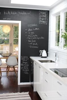 I love this idea. Might try to do this in a small area. I love a Galley kitchen as well. If we ever remodel....