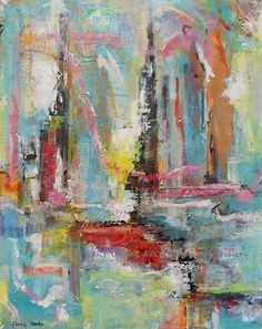 Summer In The City by Cherry Brewer by Art on the Avenue Macon Acrylic on Canvas