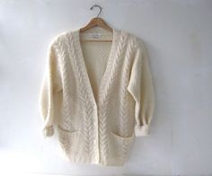 vintage mohair sweater. cardigan sweater. by dirtybirdiesvintage, $54.00