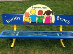 The buddy bench is a simple idea to eliminate loneliness and foster friendship on the playground. Let's spread the message of inclusion and kindness!""