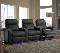 Octane Seating XL700 Series Turbo Theater Seating with Lighting