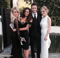 Prom Photo ! My date @Julianne Hough Web and I, @Chris Grace and @ashley_hinshaw. Leaving the house to go to the #globes last Sunday!