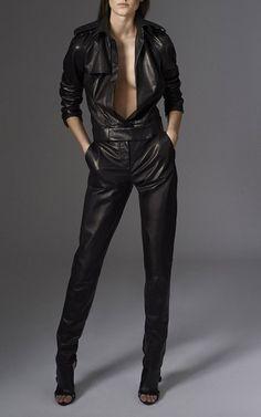 Soft Nappa Pant In Black by MUGLER for Preorder on Moda Operandi