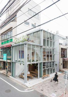 02_alsoSoupStockTokyo Restaurant Exterior Design, Cafe Exterior, Interior Exterior, Cafe Shop Design, Shop Interior Design, Store Design, House Design, Glass Restaurant, Tokyo Restaurant