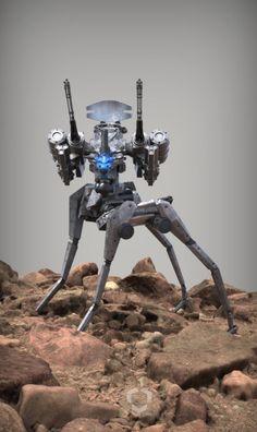 Meteor Defense Mecha - MANTIS - Split-Leg Configuration